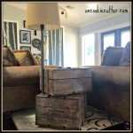 DIY Crate End Table #1