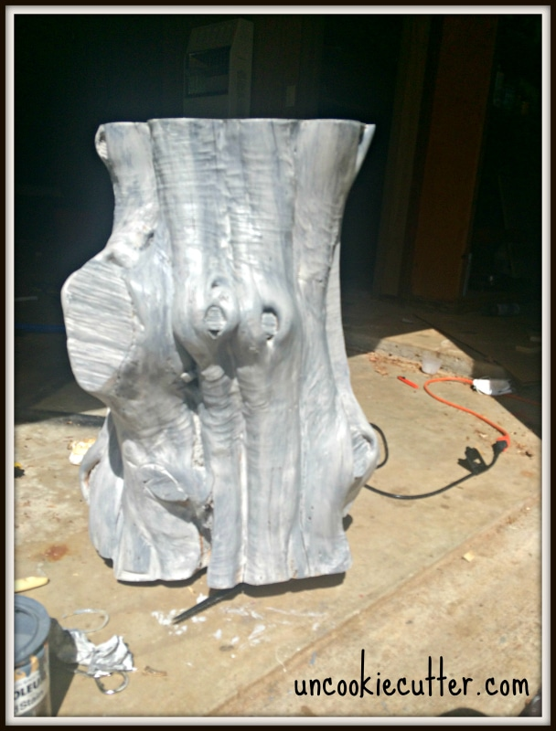 Tree Stump End Table - Uncookiecutter.com