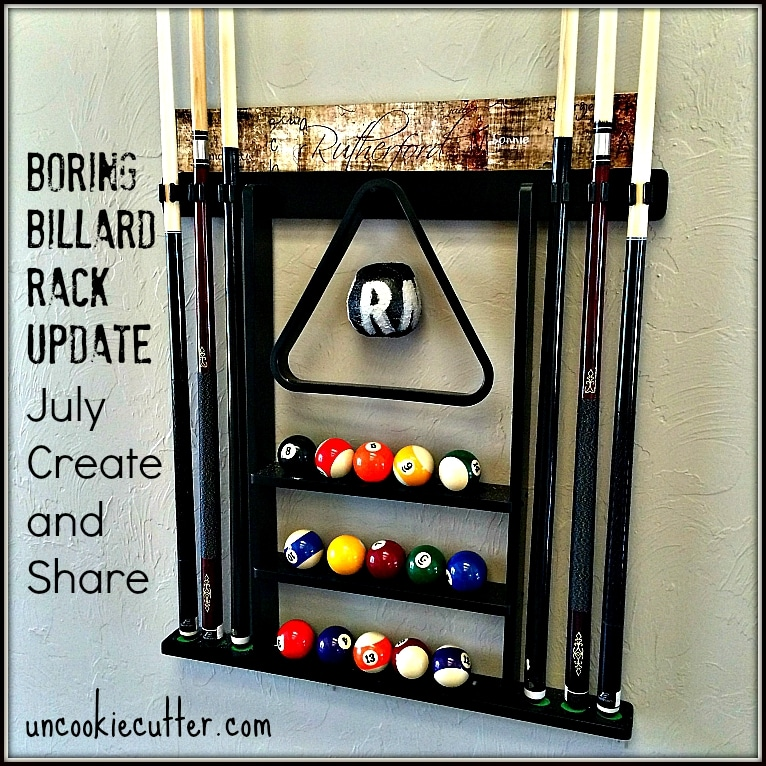 Pool Rack Update and July Create and Share Challenge - Uncookiecutter.com
