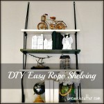 Easy Rope Shelves