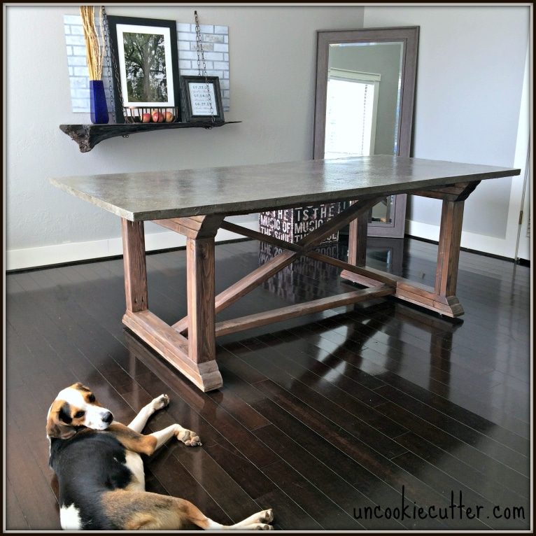stop by to get all the details on how i made this concrete dining table browse cement furniture