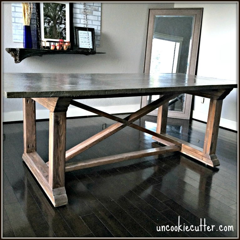 Concrete Dining Table DIY For Less Uncookie Cutter