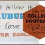 College Football Wooden Spirit Sign