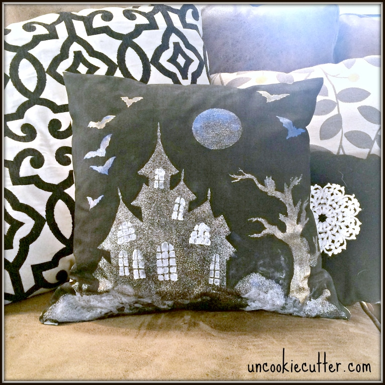 Halloween Paint-A-Pillow and October Create and Share - Uncookiecutter.com