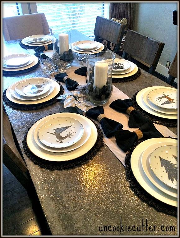 Simple, Rustic Thanksgiving Tablescape and 15 other tables for the holidays - November Create and Share at UncookieCutter.com