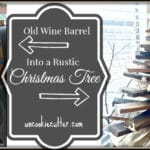 Wine Barrel Christmas Tree