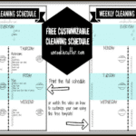 Weekly Customizable Cleaning Schedule Printable and Video Tutorial