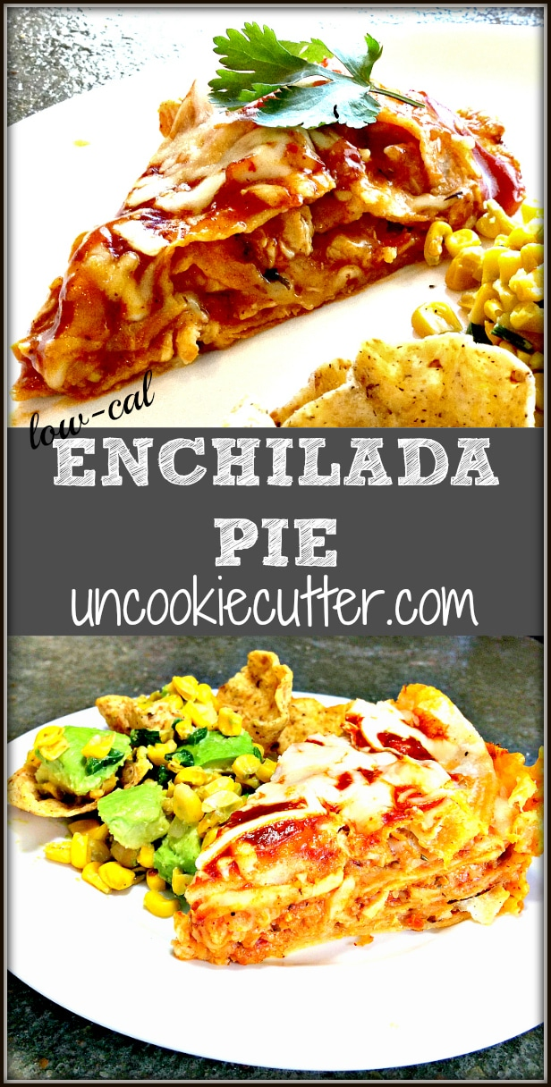 Enchilada Pie -You Link It, We Make It weekly recipe link party. Each week we each pick a recipe from those linked up to make, review and feature! Join us every Wednesday 7 am - Saturday midnight hosted by Uncookie Cutter and Knock it Off Kim.