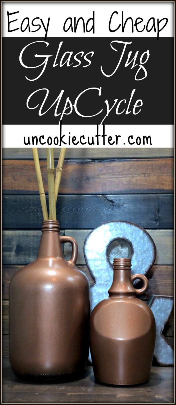Quick and Easy Glass Jugs Upcycle - UncookieCutter.com