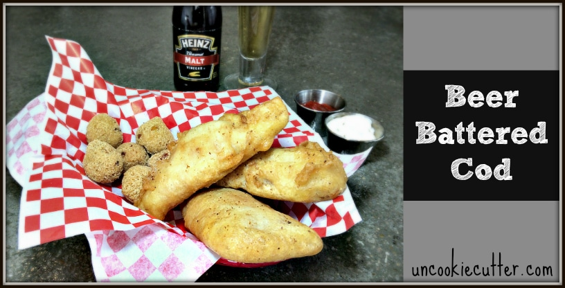 Beer Battered Cod - Featured at You Link It, We Make It link party every Wednesday through Saturday at KnockitOffKim.com and UncookieCutter.com