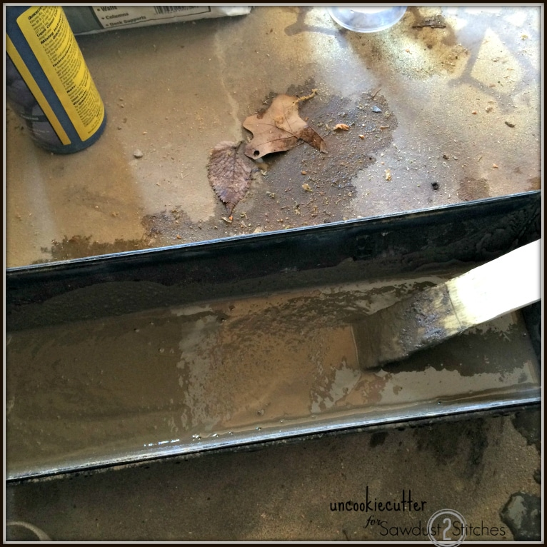 Concrete Backsplash & Wall - Uncookie Cutter for Sawdust 2 Stitches