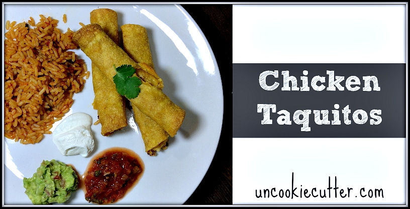 This week for You Link It, We Make It - I made these Tex-Mex Chicken Taquitos from Unwed Housewife. Be sure to stop by for the recipe and link up your favorites every Wed through Sat at KnockItOffKim.com and UncookieCutter.com!