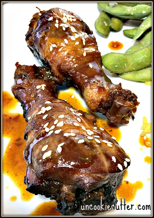 Sesame Drumsticks - This weeks feature on You Link It, We Make It, every Wednesday through Saturday at UncookieCutter.com