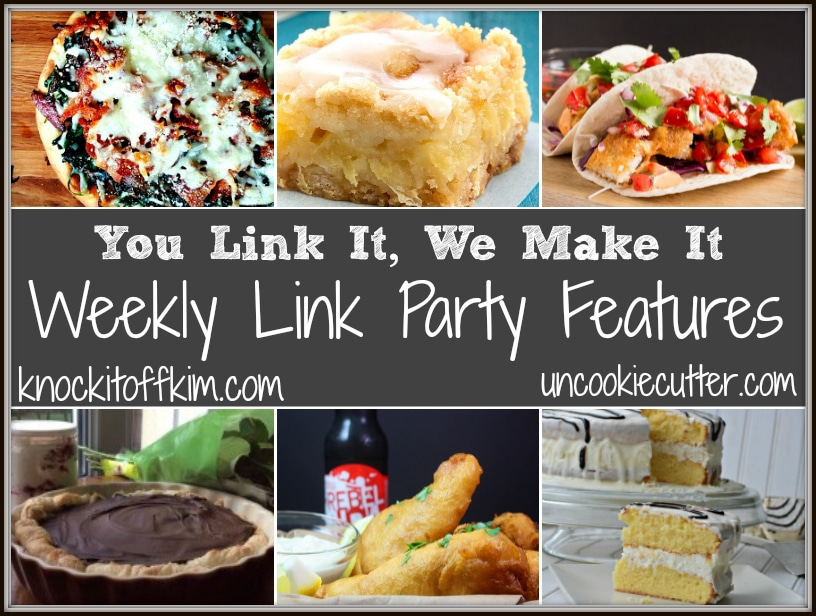 You Link It, We Make It every Wednesday - Saturday at KnockItOffKim.com and UncookieCutter.com
