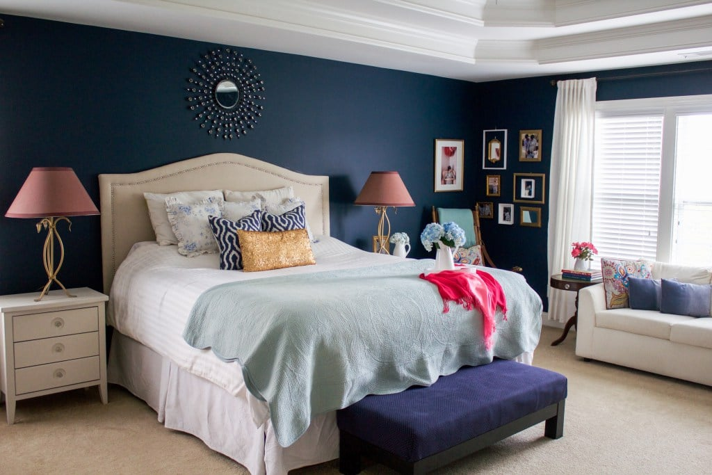 This is one of my most favorite girls rooms ever  Sharon from over at  Pretty Practical Home has made this room so gorgeous and I love how she add  teal. 6 Navy Room Ideas   Uncookie Cutter