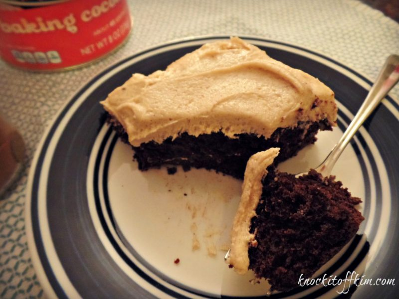 GF, EF, DF Mexican Chocolate Cake - Kim's feature pic at the You Link It, We Make It link party.