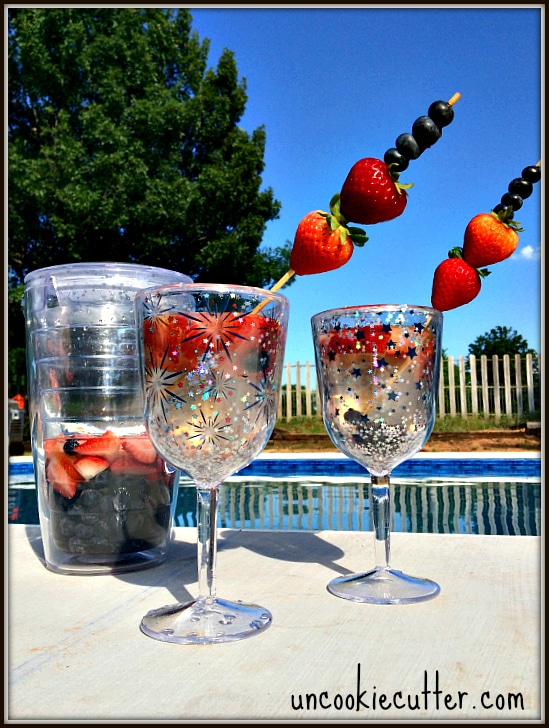 Red, White and Blue Sangria for the Fourth of July ! - UncookieCutter.com