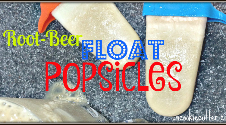 Root Beer Float Popsicles - the perfect summer treat! UncookieCutter.com