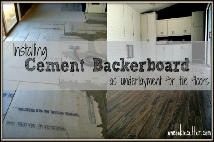 Installing Cement Backerboard as underlayment for tile floors - UncookieCutter.com