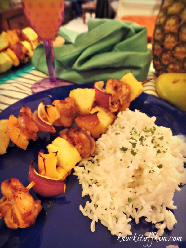 Sweet and Spicy Chicken Kabobs - Knock it Off Kim