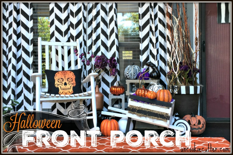 Whimsical and Fun Fall Front Porch Makeover