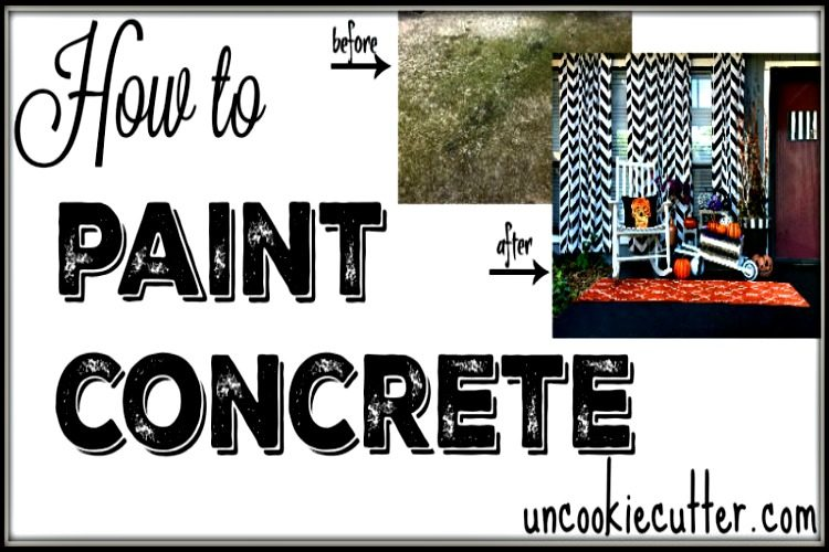 How to Paint Concrete - UncookieCutter.com