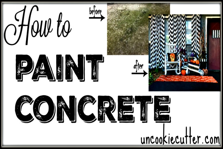 How to Paint Concrete to Make it Look Brand New!