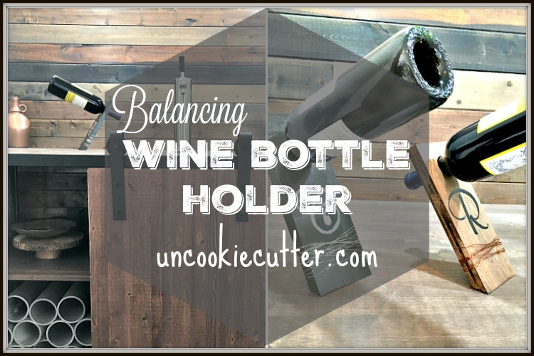 Balancing Wine Bottle Holder featuring PureBond!