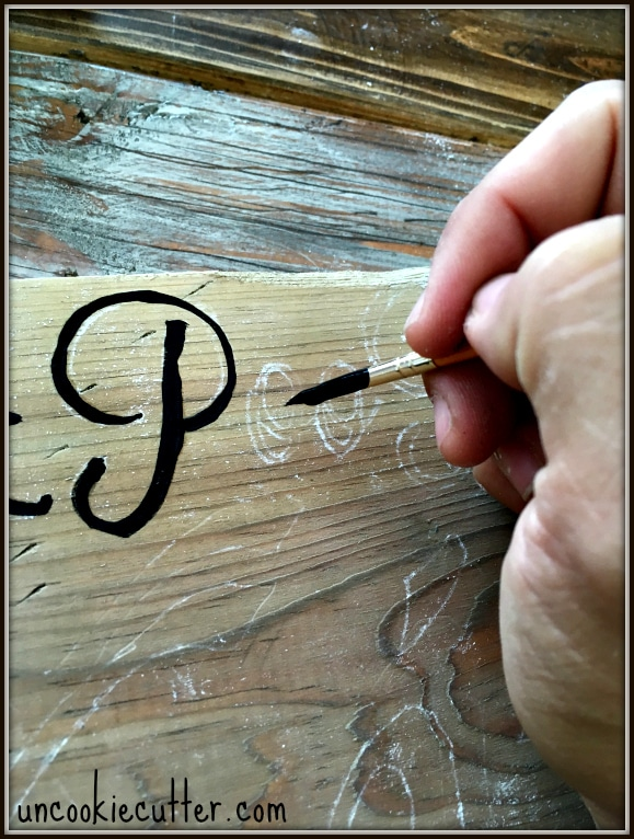 Quick and Easy Farmhouse Sign - Plus How to Make New Wood Look Old and Vintage-y! UncookieCutter.com