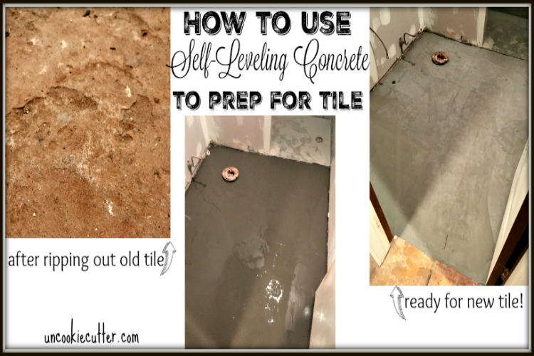 How to Use Self-Leveling Concrete to Prep for New Floors - UncookieCutter.com