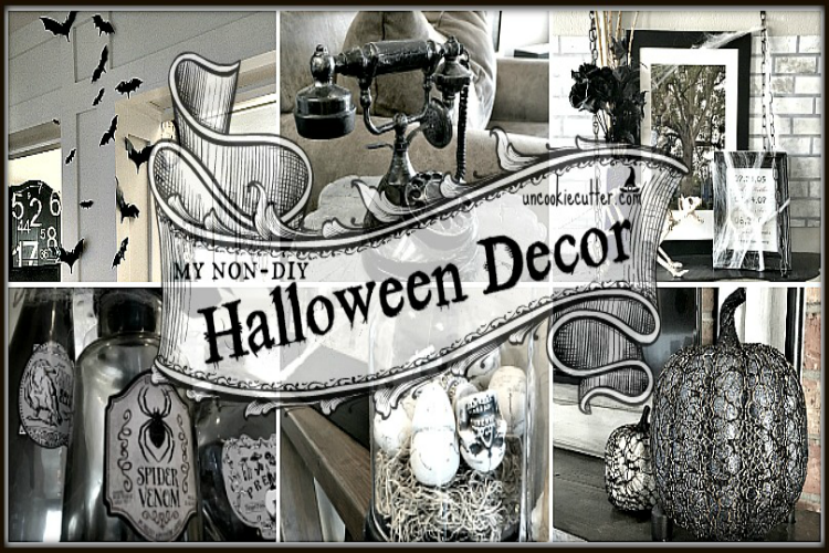 My non-DIY Halloween Decor - Fall 2016 - UncookieCutter.com