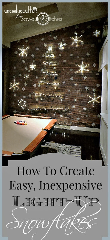 Easy DIY Light-Up Snowflakes - UncookieCutter for Sawdust2Stitches