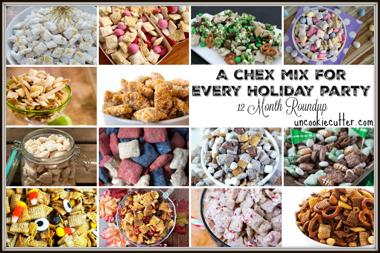 A Chex Mix for every holiday - 12 month roundup - UncookieCutter.com