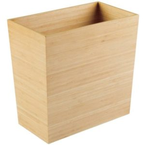 Better Homes and Gardens Bamboo Wood Collection - Wastebasket - Bath Shopping Guide - Hall Bath Makeover - UncookieCutter.com