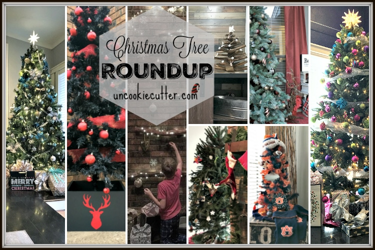My Christmas Tree Roundup - I have too many trees! UncookieCutter.com
