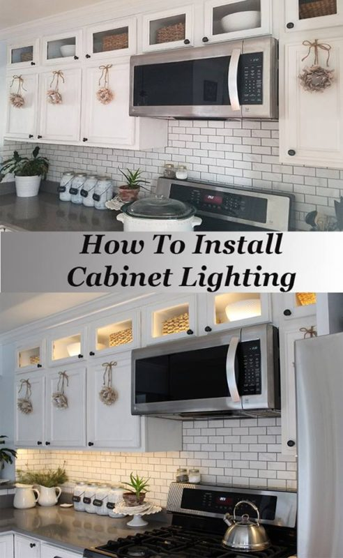 How to Install Cabinet Lighting - The HoneyComb Home - Saturday Showcase - January 2017