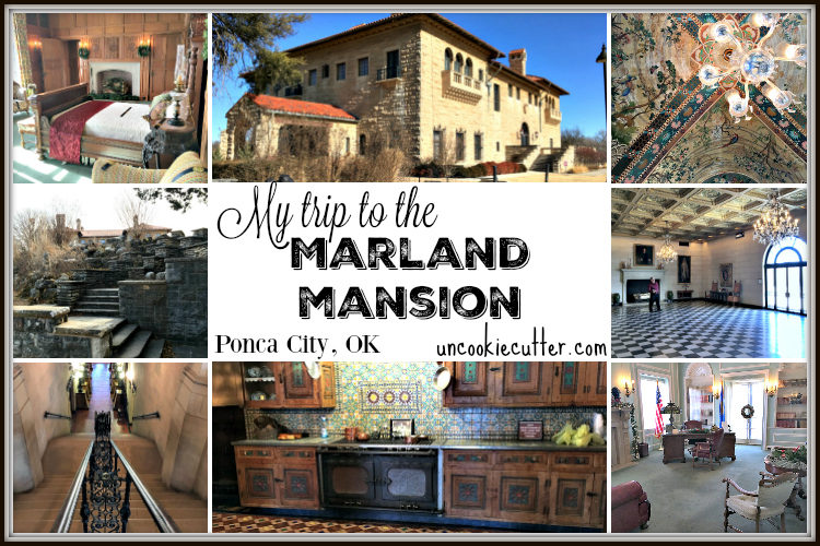 All the details on my trip to the Marland Mansion in Ponca City, OK. What an intriguing story of fortune that is E.W. Marland - UncookieCutter.com