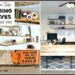 Hanging Shelves with Faux Live Edges