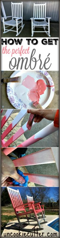 Ombré Rocking Chairs and How to Create the Perfect Ombré Effect - UncookieCutter.com