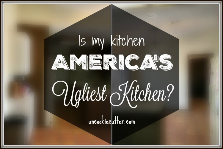 Ugliest kitchen in America?  Mine just might be…
