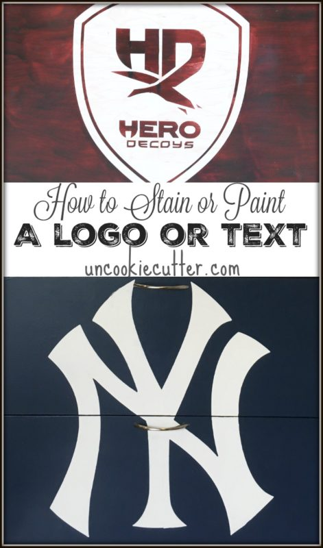 Staining Logos and Text : A simple how-to - UncookieCutter.com