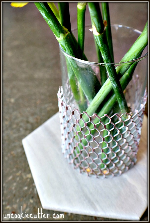 Glass Vase Upcycle - April 10-Minute DIY - UncookieCutter.com