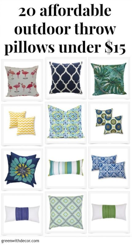 Green with Decor - 20 Affordable Outdoor Throw Pillows Under $15