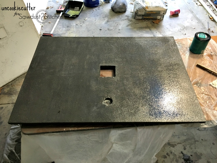 How to build a concrete vanity top - UncookieCutter for Sawdust 2 Stitches