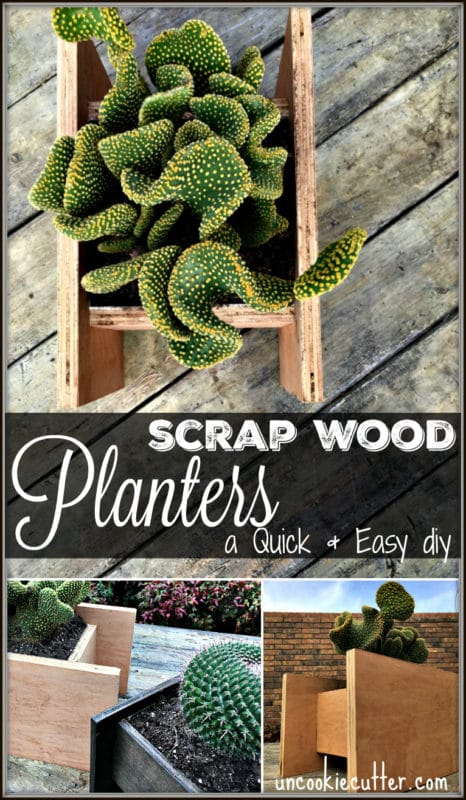 Scrap wood projects - Wooden Planters - uncookiecutter.com